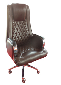 Brown Padded Swivel Chair