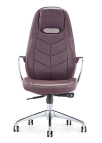 Lilac Leather Swivel Chair